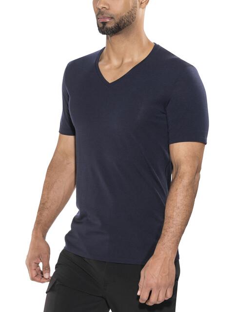 Icebreaker Anatomica SS V-Shirt Men midnight navy